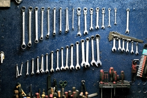 Tools in a garage