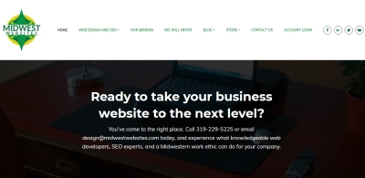 Midwest Websites Business Website Home page