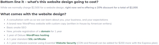 Midwest Websites web design page