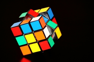 Rubik's cube being turned