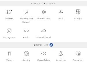 Squarespace blocks