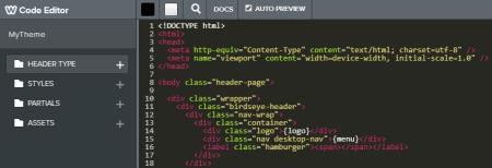 Weebly HTML editor