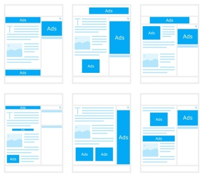 Banner ad layouts