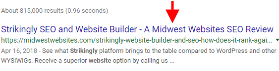 Midwest Websites meta title