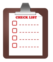 Checklist on clipboard pic