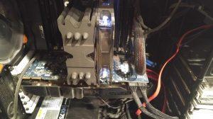 Internal view of a computer