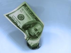Money down drain