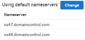 Nameserver settings