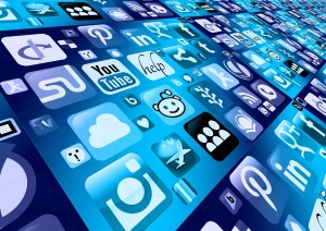 Online marketing and social media icons